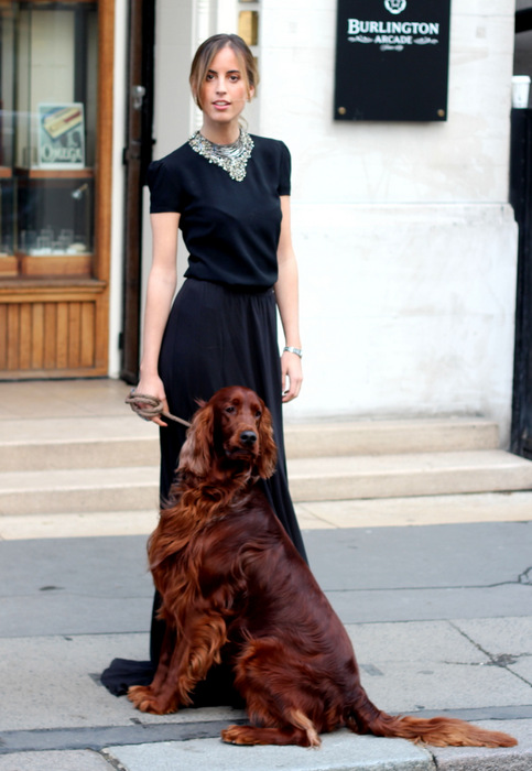 Berta Bernad, Ralph Lauren event, London, Ralph Lauren Collection dress, Dog, Ralph Lauren