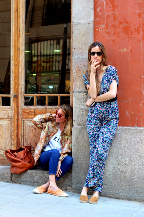 berta bernad, blanca miro, barcelona, barrio del born, Spain, bloggers, espadrilles, spanish, mint and rose